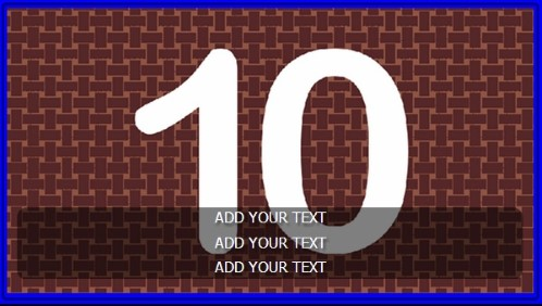 10 Image Slideshow With Text And Border - 10 Seconds Rotatio in Blue color