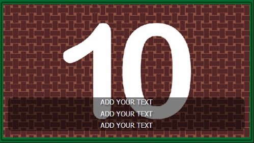 10 Image Slideshow With Text And Border - 10 Seconds Rotatio in Green color