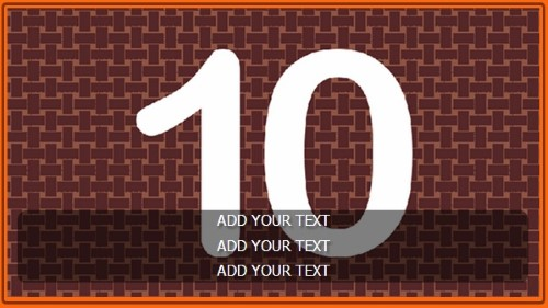 10 Image Slideshow With Text And Border - 10 Seconds Rotatio in Orange color