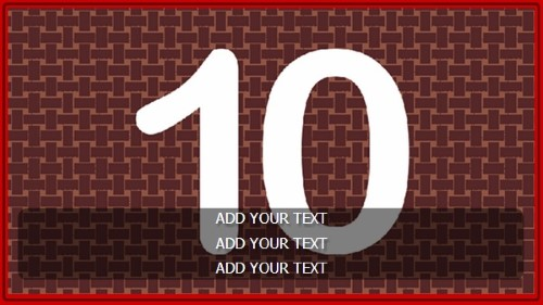 10 Image Slideshow With Text And Border - 10 Seconds Rotatio in Red color