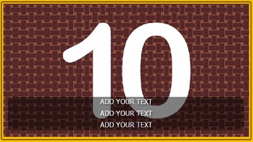 10 Image Slideshow With Text And Border - 10 Seconds Rotatio in Yellow color