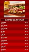 Digital Signage Template for Portrait Digital Menu Board - 10 Items