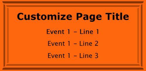 1 Event / Schedule in Orange color