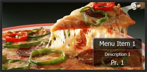 Digital Signage Template for Digital Menu Board - 1 Item