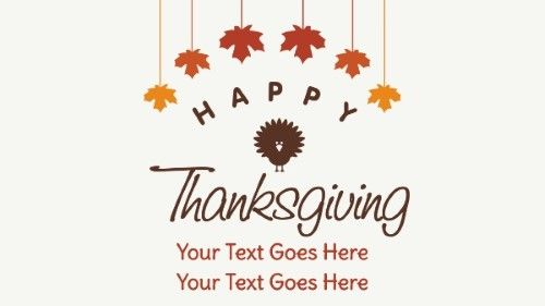 Thanksgiving Greetings in Cream color