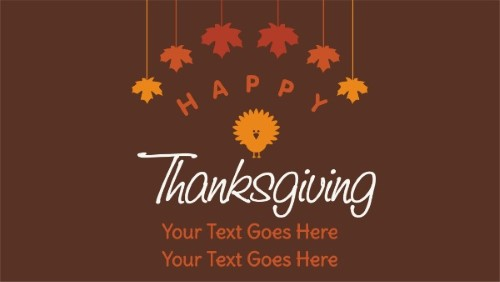 Thanksgiving Greetings in Brown color