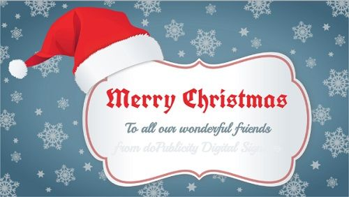 Christmas Greetings in White color