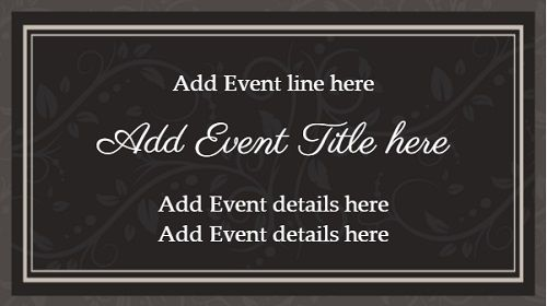 Event Template - Floral - 1 Item in White color
