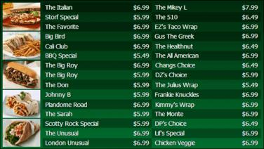 Digital Menu Board - 30 Items in Green color