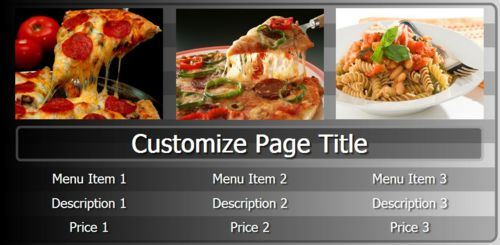 Digital Menu Board - 3 Items in Black color