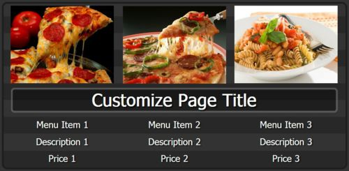 Digital Signage Template for Digital Menu Board - 3 Items