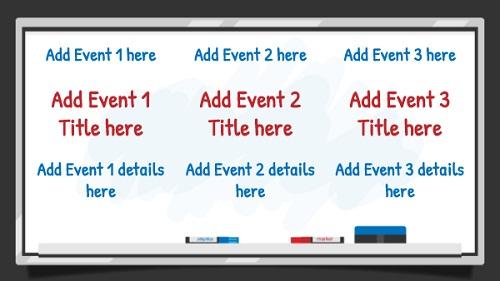 Event Template - White Board - 3 Items in White color
