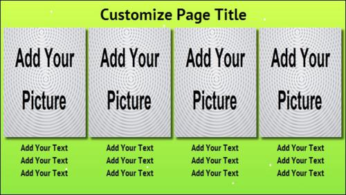 4 Product / Service with Image in Green color