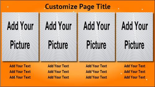 4 Product / Service with Image in Orange color