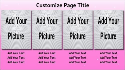 4 Product / Service with Image in Pink color