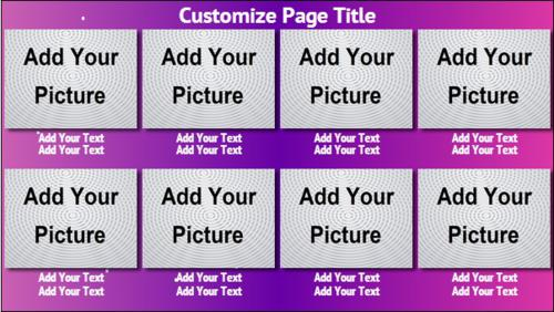 8 Product / Service with Image in Purple color