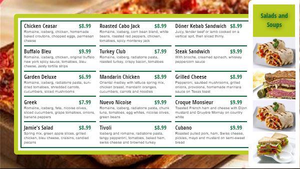 Digital Menu Board - 15 Items in Green color