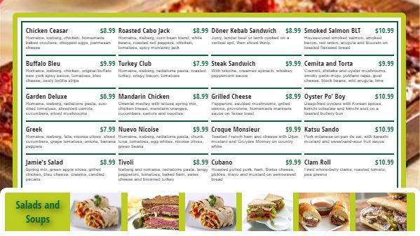 Digital Menu Board - 20 Items in Green color