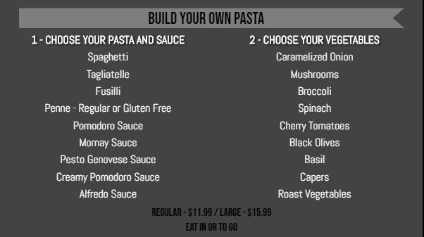 Digital Signage Advertising Template for Build Your Own Menu - 20 Items