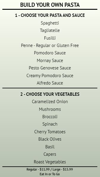 Build Your Own - Menu Board - 20 Items in Grey color
