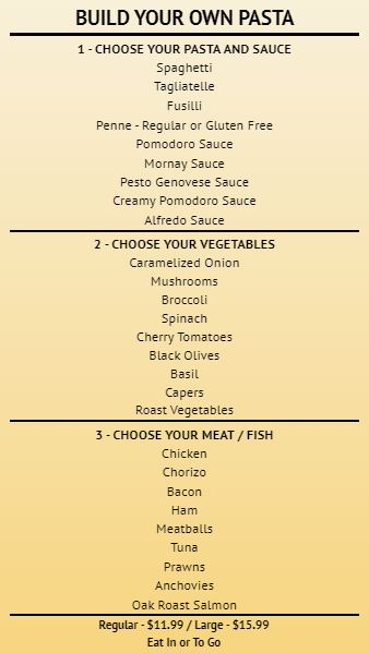 Build Your Own - Menu Board - 30 Items in Yellow color