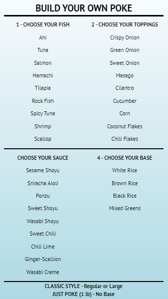 Build Your Own - Menu Board - 40 Items in Blue color