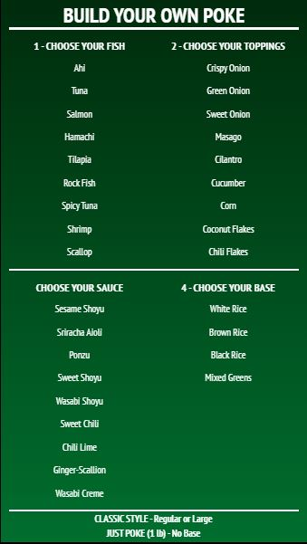 Build Your Own - Menu Board - 40 Items in Green color