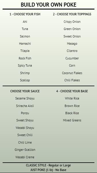 Build Your Own - Menu Board - 40 Items in Grey color