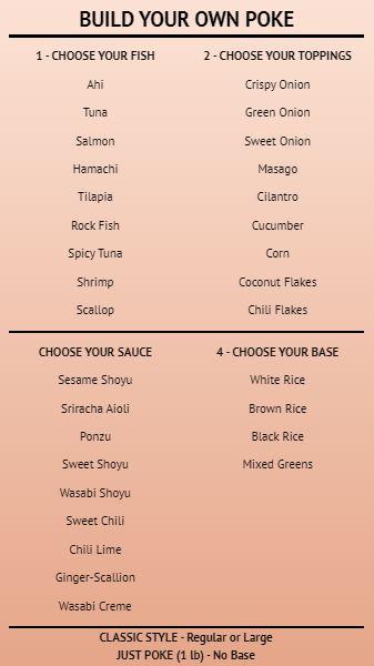 Build Your Own - Menu Board - 40 Items in Orange color