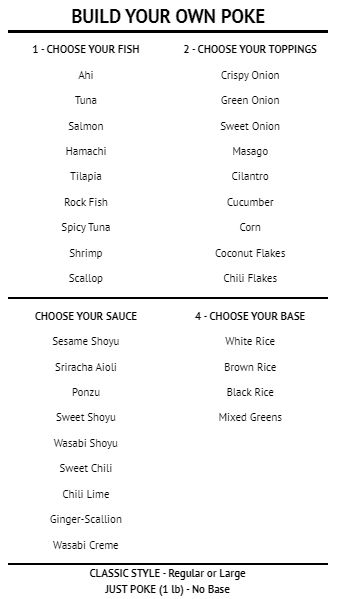 Build Your Own - Menu Board - 40 Items in White color