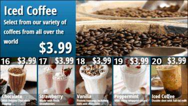 Combo Menu Board with Promos - 16 to 20 in Blue color