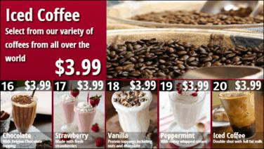 Combo Menu Board with Promos - 16 to 20 in Red color