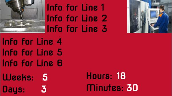 Countdown Timer With Images and Text in Red color