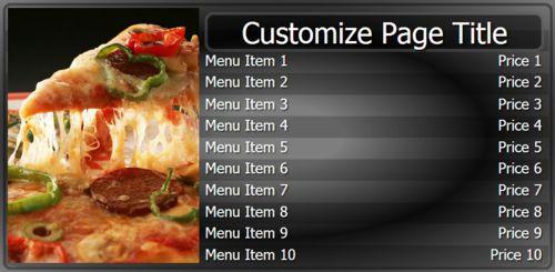 Digital Menu Board - 10 Items in Black color