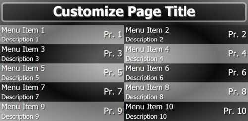 Digital Menu Board - 10 Items in Black color
