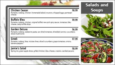 Digital Menu Board - 5 Items in Grey color