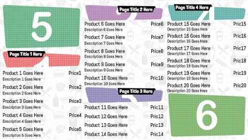 Digital Menu Board - Icon Style - 20 Items in White color