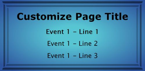 1 Event / Schedule in Blue color