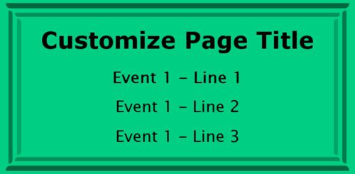 1 Event / Schedule in Green color