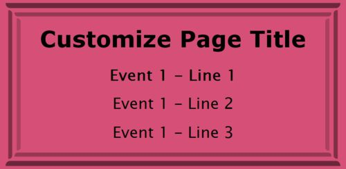 1 Event / Schedule in Pink color