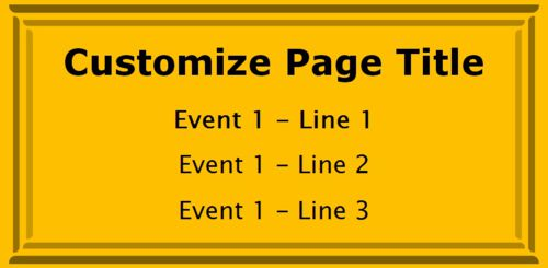 1 Event / Schedule in Yellow color