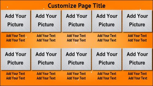 10 Product / Service with Image in Orange color