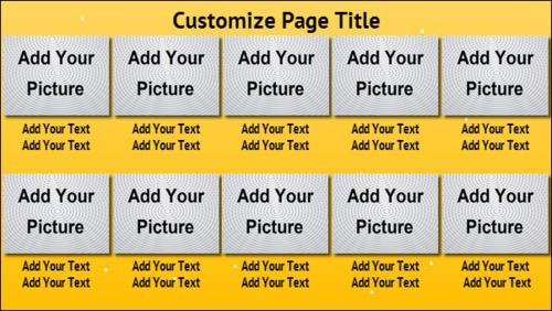 10 Product / Service with Image in Yellow color