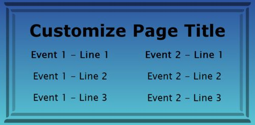 2 Events / Schedules in Blue color