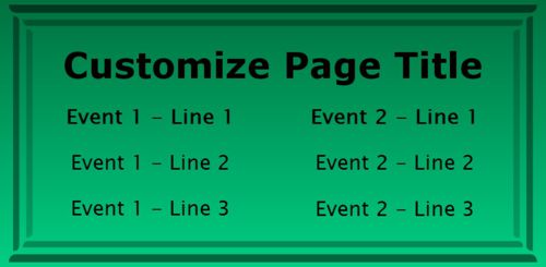 2 Events / Schedules in Green color