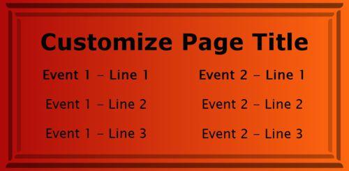 2 Events / Schedules in Orange color