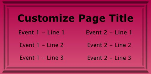 2 Events / Schedules in Pink color