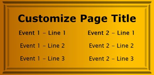 2 Events / Schedules in Yellow color