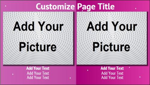 2 Product / Service with Image in Purple color
