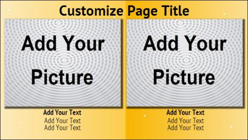 2 Product / Service with Image in Yellow color
